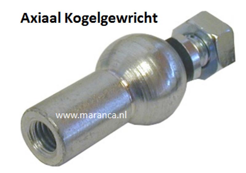 Axiaal kogelgewricht M 6 C 10 verzinkt