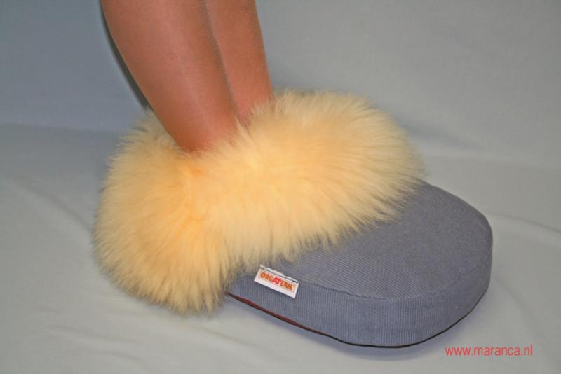 Schapenvacht voetenwarmer
