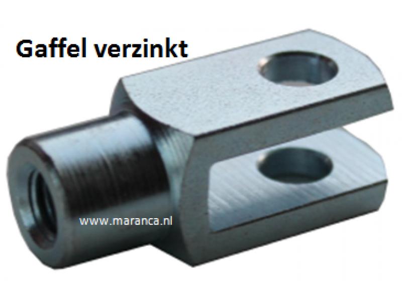 Stelgaffel M 6 x 12 staal verzinkt
