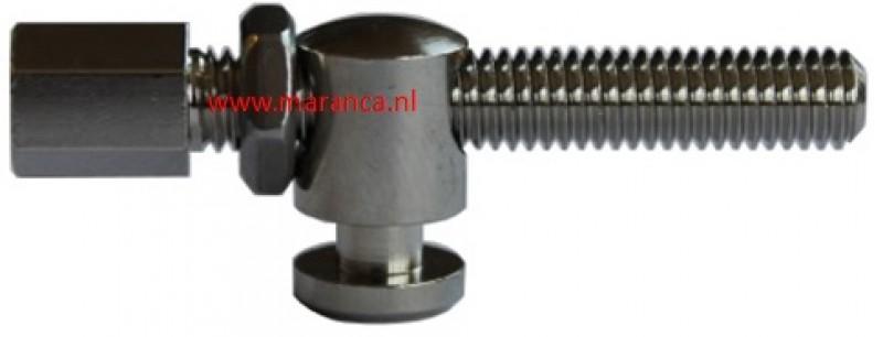 Kabelstelbout M6 x 40 mm met stopnok