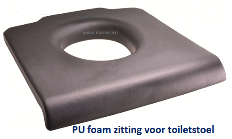 Toiletzitting Pu foam met uitsparing