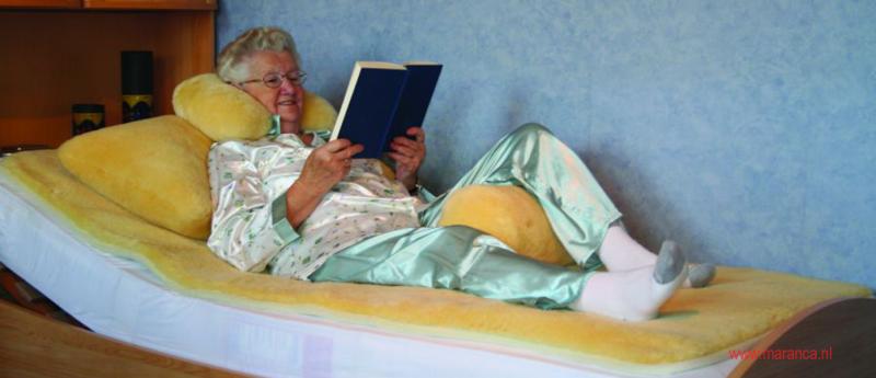 Schapenvacht onderleg deken.