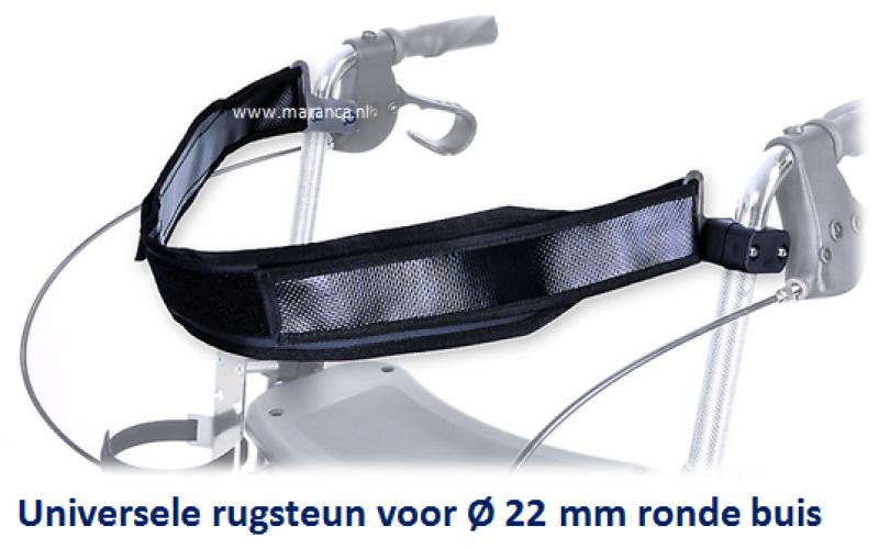 Rollator rugband voor ronde buis