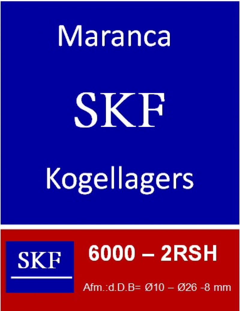 SKF kogellager 6000 2RS