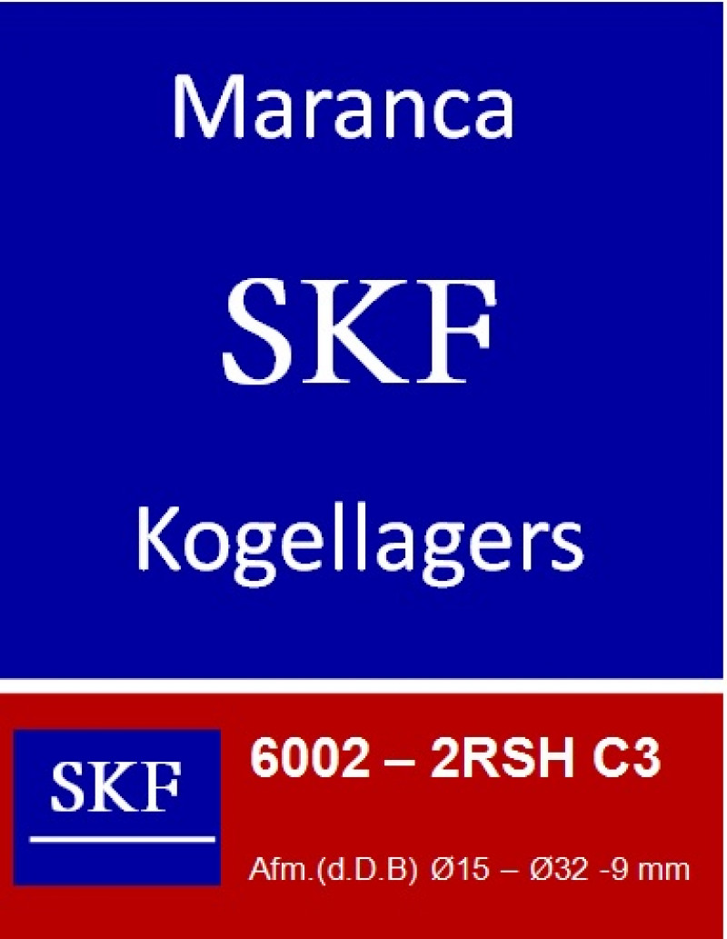 SKF kogellager 6002 C3 2RS