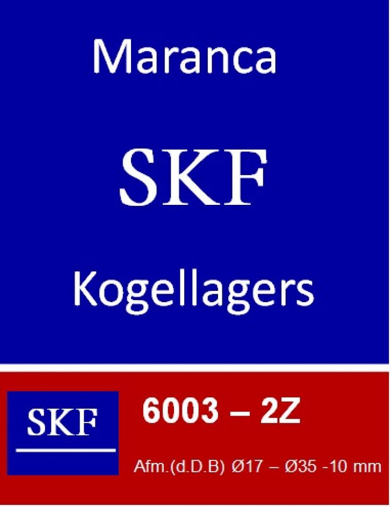 SKF kogellager 6003 2Z (ZZ)