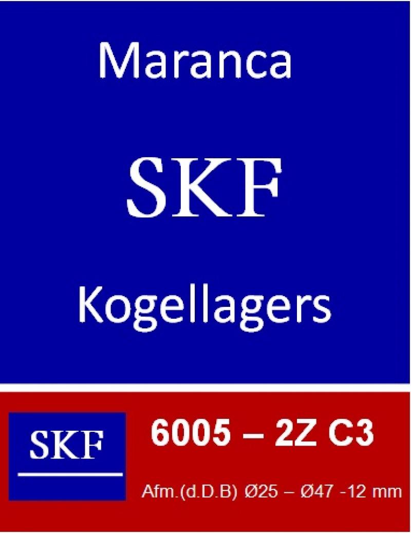 SKF kogellager 6005 2Z C3