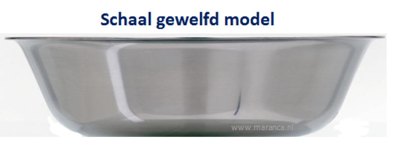 Waskom gewelfd model RVS