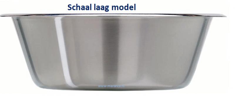 Schaal laag model RvS